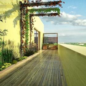 Ogród na dużym balkonie
