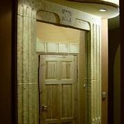 Obudowa lustra wykonana została z ytongu. Bloczki wyrzeźbione i pokryte warstwą zabezpieczającą,a następnie pomalowane.Nasz projekt,nasze wykonanie.Więcej na www.flizowanie.com w dziale oryginalne pomysły.