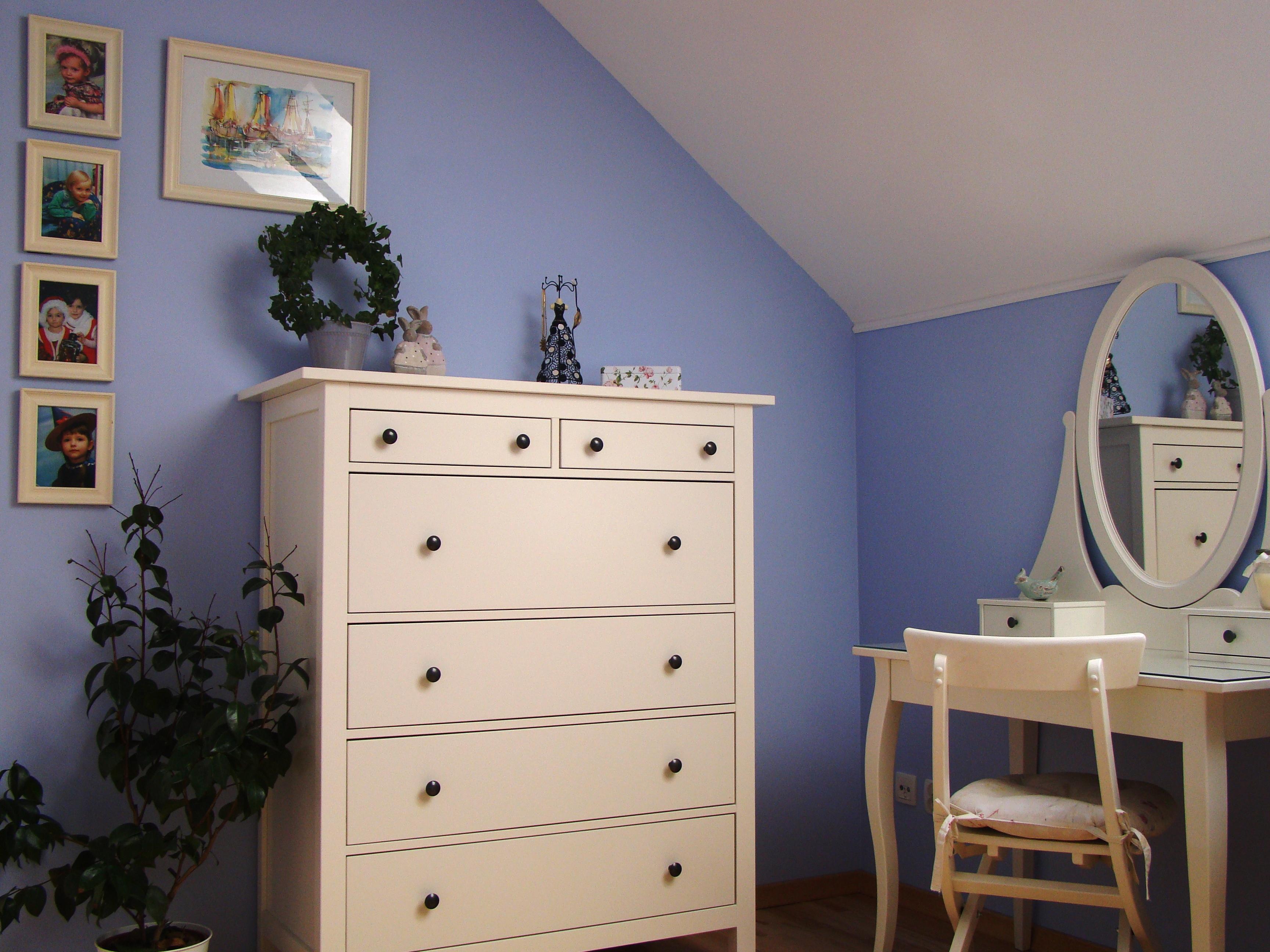 Zdjęcie 410 W Aranżacji Niebieska Sypialnia Mniej