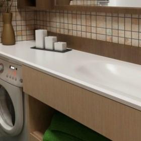 Jak skutecznie ukryć pralkę w małej łazience?