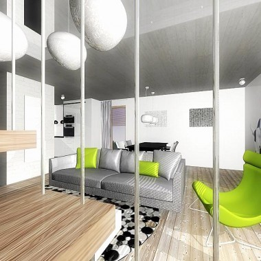 Projekt mieszkania 2 - poziomowego