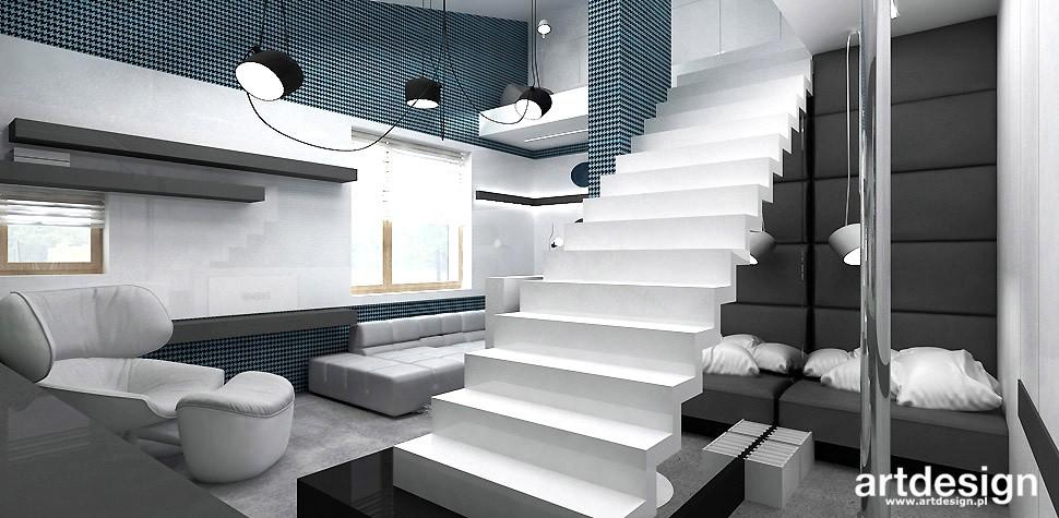 Garderoba, ARTDESIGN PERFORMANCE. Wnętrza domu (cz. 2) - pokój z antresolą
