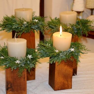 moje adwentowe świece ,zrobiłam z drewna ,które podebrałam sąsiadce ..oczywiście za zgodą ,bo i tak zginęły b w piecu