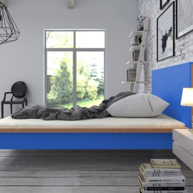 Łóżko Skandica InBig w kolorze niebieskim
