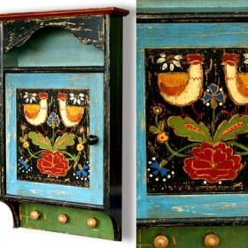Ręcznie malowane skrzynki na klucze