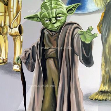 artystyczne malowanie ścian, malowidła ścienne, malunki na ścianie, pokój dziecięcy, pokój dla dziecka, pokój dla dziewczynki, pokój dla chłopca, dekoracja ścian, Star Wars, Gwiezdne Wojny, Yoda