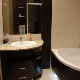 Łazienka beżowo - brązowa