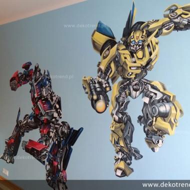 artystyczne malowanie ścian, malowidła ścienne, malunki na ścianie, pokój dziecięcy, pokój dla dziecka, pokój dla dziewczynki, pokój dla chłopca, dekoracja ścian, Transformers