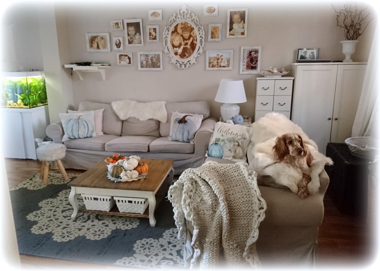 Salon, jesiennie i  jeszcze dyniowo