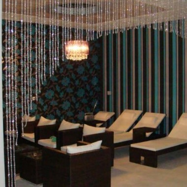 Kotary z koralików  w salonie SPA.