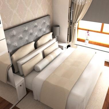 Sypialnia w lofcie w Warszawie