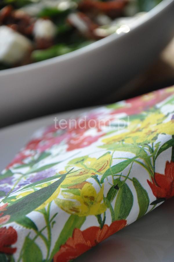 Pozostałe, śliczne nowości w sklepie tendom.pl - papierowe serwetki w kwiaty