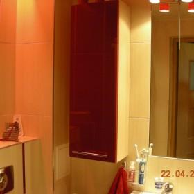 Czerwona łazienka