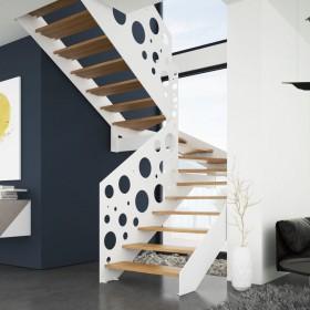 Białe czy czarne schody? Inspiracje do oryginalnych wnętrz
