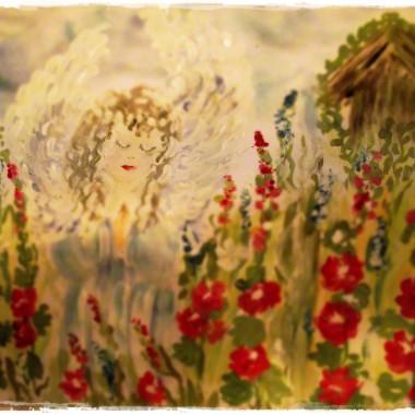 Mój pierwszy obraz z Aniołem&#x3B; raz kozie śmierć....