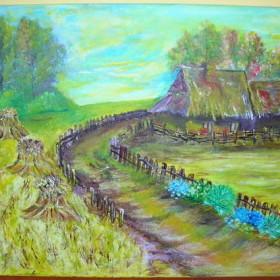 Obrazy akrylowe i olejne ręcznie malowane.
