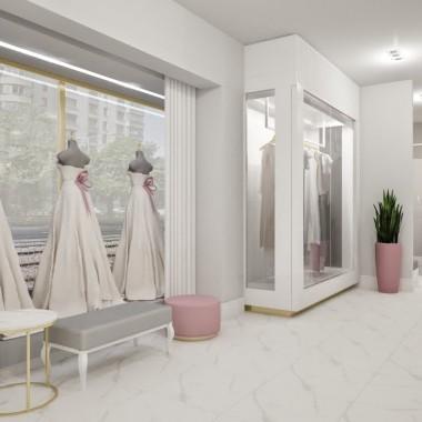 Jedno wnętrze - trzy różne odsłony. Projekt salonu sukien ślubnych w samym centrum Warszawy to połączenie nowoczesnego stylu ze szczyptą elegancji. Każda z trzech propozycji różni się między sobą detalami, lecz to właśnie detale sprawiają, że wnętrze jest wyjątkowe! Połączenie delikatnej szarości i bieli ze szlachetnym złotem, efektownym złamanym różem lub nowoczesną połyskującą czernią - to trzy koncepcje na jedno stylowe wnętrze.