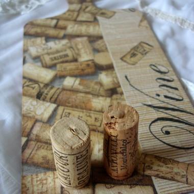 Dekoracyjne deski do krojenia: wino.
