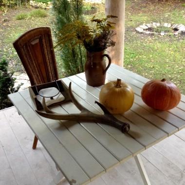Ten czas gdy cudowne lato przechodziło w jesień, spędziłam w leśnym domku. Pogoda piękna była, a jesień jak nożem uciął przyszła z ulewa i niska temperatura. Troche fotek i klimatu miejsc gdzie kończy sie Polska chce Wam pokazać. I oczywiście złotej , polskiej życzyć!