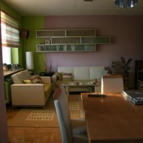 Salon: zielony + fiolet