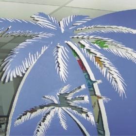 ścianka dekoracyjna palma