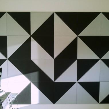 Beton architektoniczny Kreatywne mozaiki z płyt betonwych 100x50