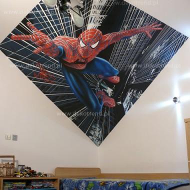 artystyczne malowanie ścian, malowidła ścienne, malunki na ścianie, pokój dziecięcy, pokój dla dziecka, pokój dla dziewczynki, pokój dla chłopca, pokój dla dziewczynki, dekoracja ścian, Spiederman
