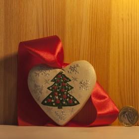 Drewniane malowane serca