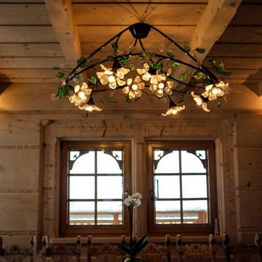 Lampy do domu z bali.