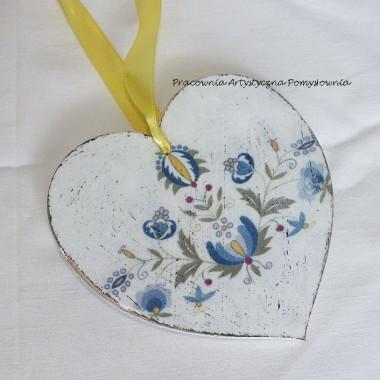 Serca dekoracyjne np. z motywem kaszubskim