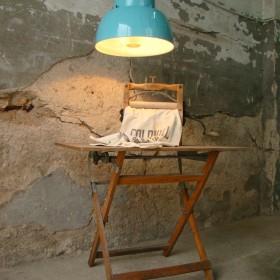 TURQUISE INDUSTRIAL PENDANT LAMP