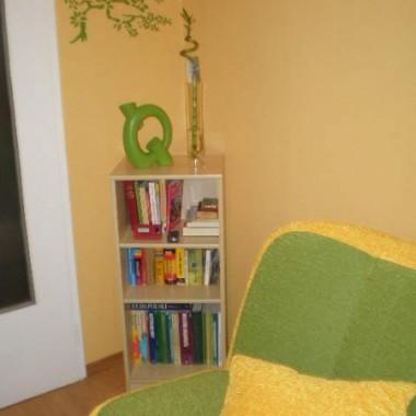 A oto efekty.. W rogu koło drzwi postanowiłam stworzyc mały kącik czytelniczy, a ponieważ ściana wydawała mi się zbyt pusta zdecydowałam się na drzewko Bonsai :)