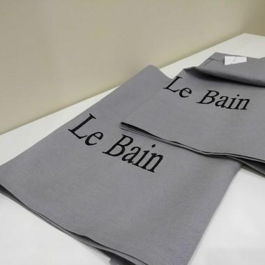 lambrekin do łazienki z haftem le bain