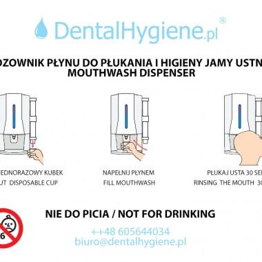 dozownik z kubeczkami do płukania jamy ustnej