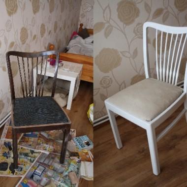 Przed i Po - Stare krzesło