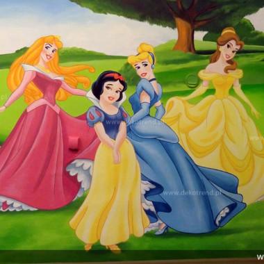 artystyczne malowanie ścian, malowidła ścienne, malunki na ścianie, pokój dziecięcy, pokój dla dziecka, pokój dla dziewczynki, pokój dla chłopca, pokój dla dziewczynki, dekoracja ścian, Disney, Księżniczki