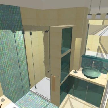 Łazienka w turkusach