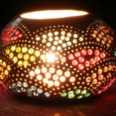 : Lampy z tykwy