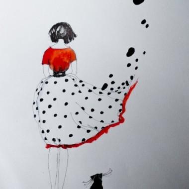 Akwarele z dodatkiem piórka artystki plastyka Adriany Laube