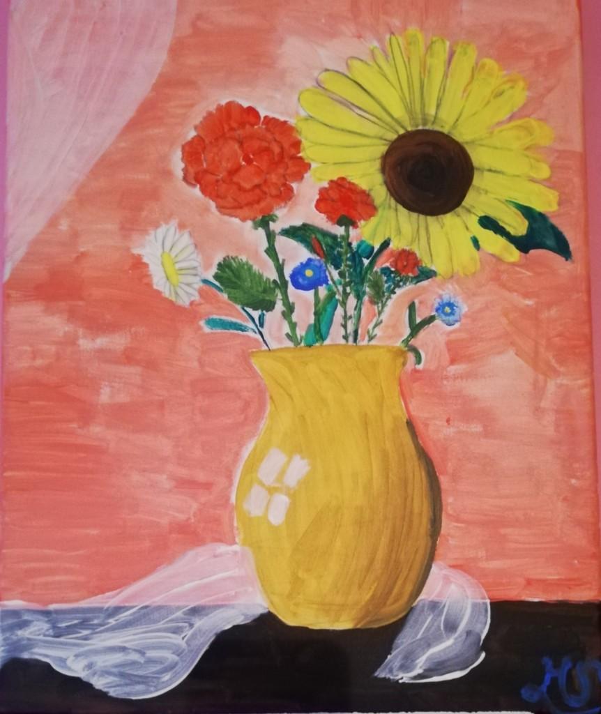 Pozostałe, Pozostałe - Ten obraz namalowała moja wnuczka..miała wtedy 12 lat:)