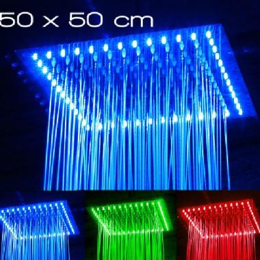 Nowość na polskim rynku - inteligentne deszczownice i baterie LED firmy Duomo, zmieniające kolor światła pod wpływem temperatury wody, od niebieskiego przy wodzie zimnej, do czerwonego przy wodzie gorącej. Nie wymagają dodatkowego zasilania - energia dla LED-ów generowana jest przez ciśnienie wody. Bezkonkurencyjne jeśli chodzi o stosunek ceny do jakości w porównaniu z innymi podobnymi produktami dostępnymi na rynku polskim i europejskim.