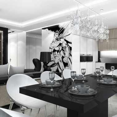High Flight - projekt apartamentu w Warszawie