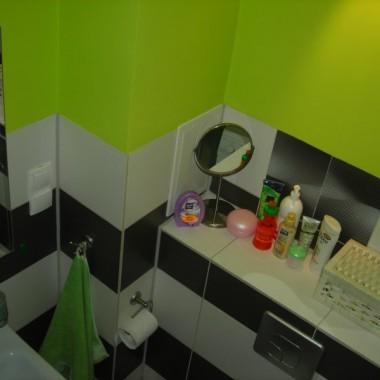 Mała zielona łazienka