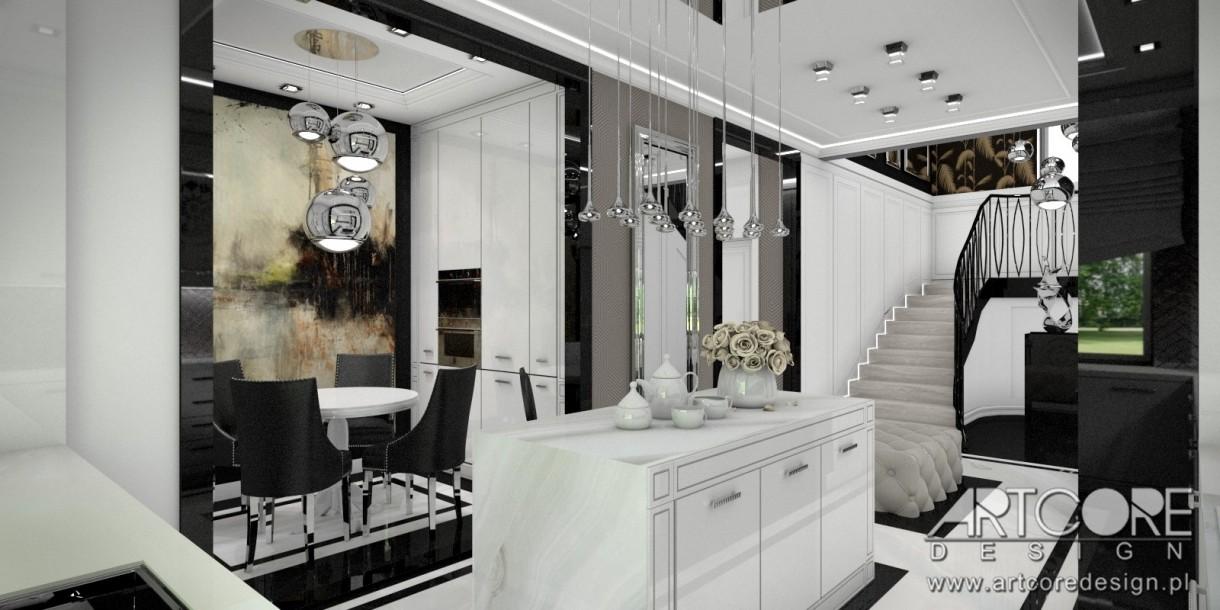 Kuchnia, RHAPSODY OF CLASSIC – projekt wnętrza domu - Projekt wnętrza kuchni.
