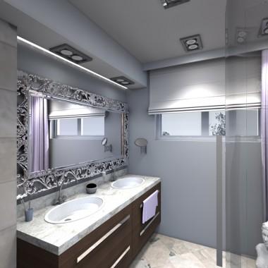 mała łazienka - wizualizacja