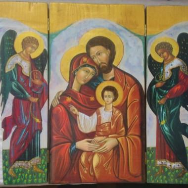 Moje prace, niektóre wykonane metodą decoupage'u plus malowanie, niektóre transferem plus malowanie, niektóre po prostu malowane malowane