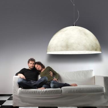 Lampy półkule - poświata księżyca