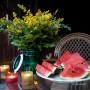 Rośliny, Trochę lata - A to taka nie wielka dekoracja stolu na kolacje)))
