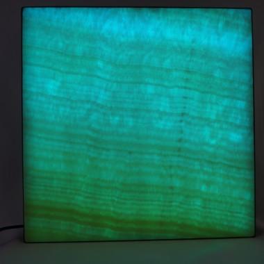 Kinkiet lampa Obraz Witraż Dekoracja o powierzchni z onyksu podświetlana diodami LED  sterowana PILOTEM z 20 programami kolorystycznymi ,19 kolorów ,5 sotopni regulacji jasności i prędkości