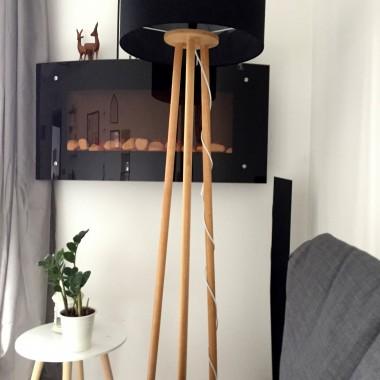Do swojego mieszkania coraz częściej staram się przemycać zieleń. Póki co, w postaci mniejszych okazów doniczkowych. Przynajmniej częściowo pozwala mi to wyleczyć się z jesienno-zimowej chandry i zastepuje brak słońca.Przy okazji pochwalę się też prezentem walentynkowym od drugiej połówki jakim jest lampa stojąca na drewnianych nogach. I nawet jeśli moja lampa nie wygląda jak te z katalogu, to prezenty wykonane własnoręcznie zawsze są dla mnie czymś nieocenionym :)